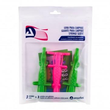 Syringe Sleeve Carpule Green and Pink by Angelus