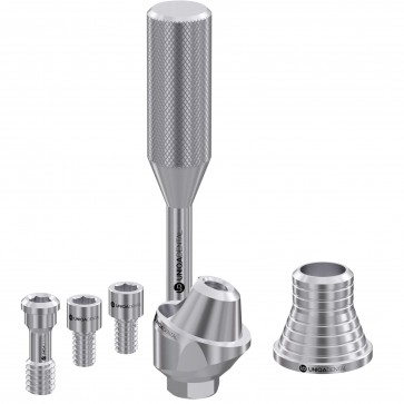 17° angled multi unit abutment with CAD/CAM short sleeve