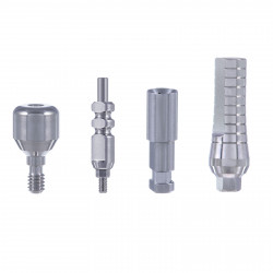 Prosthetic Set: Straight Abutment,Transfer, Implant Analog, Healing Cap