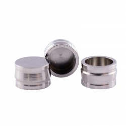 Metal housing for silicone cap, ball attachment