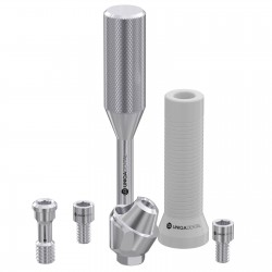 30° angled multi unit abutment with castable sleeve