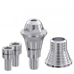 Straight multi unit abutment Conical Regular with CAD/CAM short sleeve