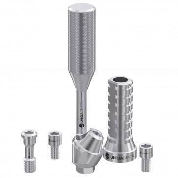 30° angled multi unit dental abutment with titanium sleeve