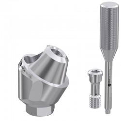 30° angled multi unit dental abutment with titanium sleeve