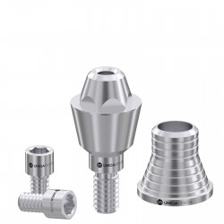 Straight multi unit abutment with CAD/CAM short sleeve