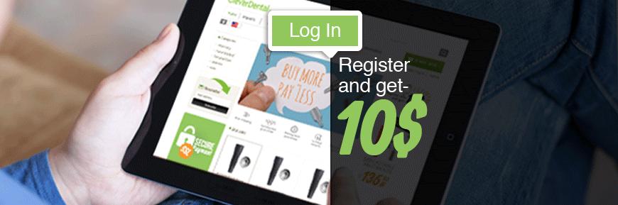 Register and get $10